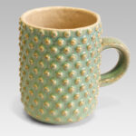 Mug textured with dots