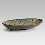 Fruit plate oval shape with balls texture