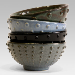 Bowl with dotted texture