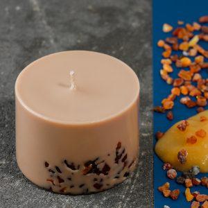 Sojų vaško žvakė Liepžiedžių&Medaus kvapo