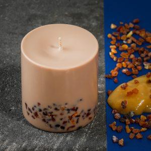 Sojų vaško žvakė Liepžiedžių&Medaus kvapo XL