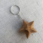 Medinis raktų pakabukas Žvaigždė