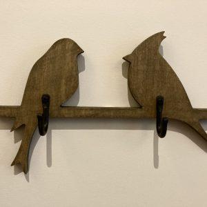Labanoris medinė kabyklėlė 2 paukščiai