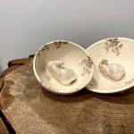 Ceramic Heart dubenėlis su zuikučiu
